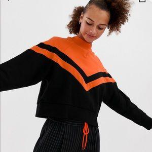 Black & orange oversized sweatshirt